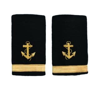 Epaulette Shoulder Board Merchant Navy Soft Slip on Anchor 1 bar